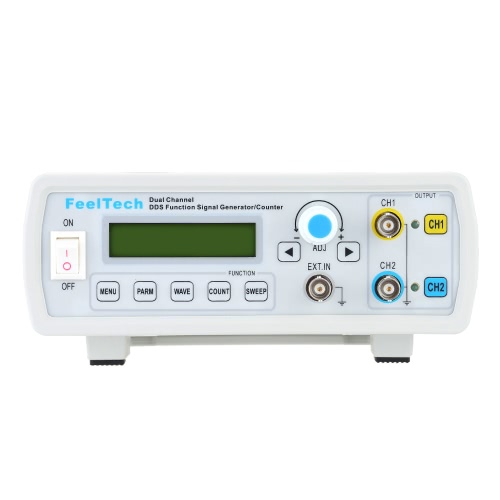 Buy High Precision Digital Dual Channel DDS Function Signal Generator Sine/Square Waveform Frequency Meter Counter 12MHz