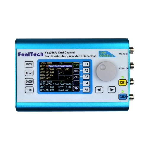 Buy High Precision Digital DDS Dual-channel Multifunction Signal Source Generator Arbitrary Waveform/Pulse Frequency Meter 200MSa/s 2MHz