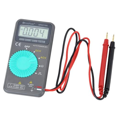 Buy HoldPeak 8216N Pocket Size Handheld LCD Digital Multimeter DMM DC AC Voltage Resistance Diode Testing Auto Range