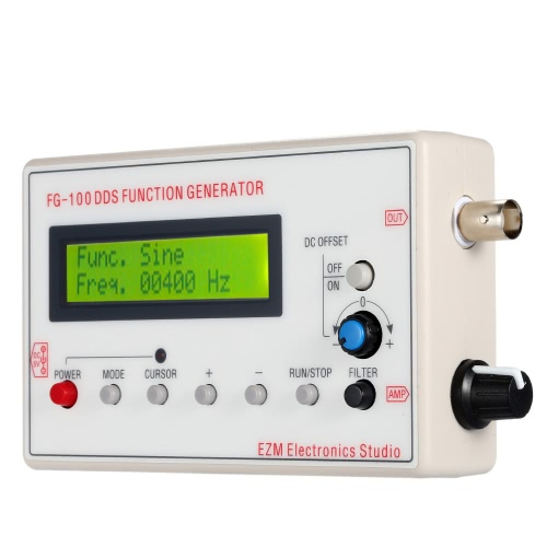 Buy 1HZ-500KHZ DDS Functional Signal Generator Sine + Square Triangle Sawtooth Waveform
