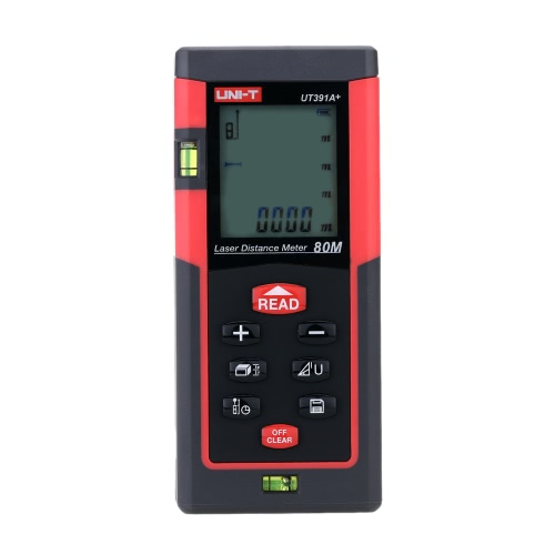Buy UNI-T UT391A+ Handheld 80m Digital Laser Distance Meter Range Finder Measure Area Volume Self-calibration Level Bubble