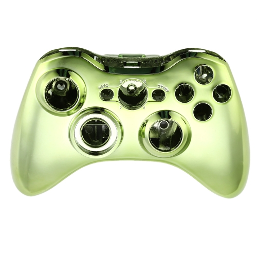 Metal Plated Gamepad Shell Controller Shell Cover Case with Matching Buttons Green for Xbox 360 от Tomtop.com INT