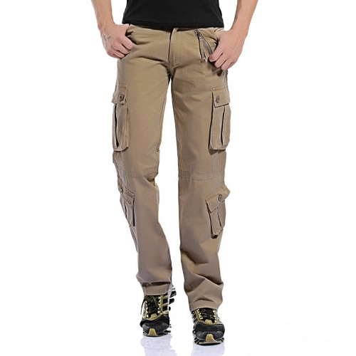 Buy Men's Cargo Pants Military Army Baggy Tactical Outdoor Casual Long Trousers