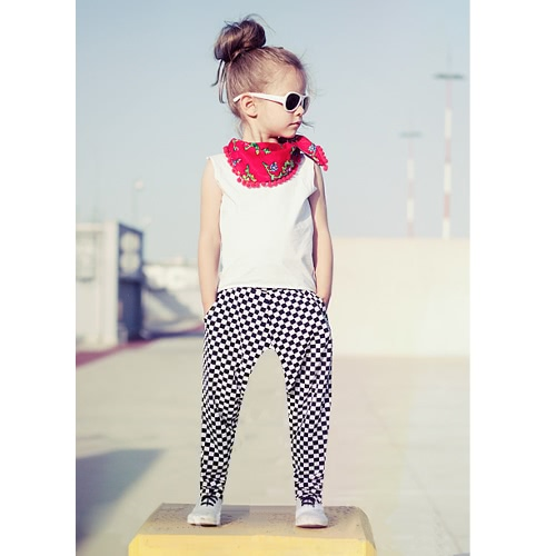 Fashion Kids Baby Girls Two-Piece Set Vest Sleeveless T-Shirt Plaid Print Elastic Waist Trousers Outfits White от Tomtop.com INT