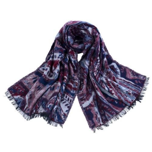 Buy Fashion Women Warm Scarf Splice Color Large Contrast Poncho Shawl Pashmina Casual Cape