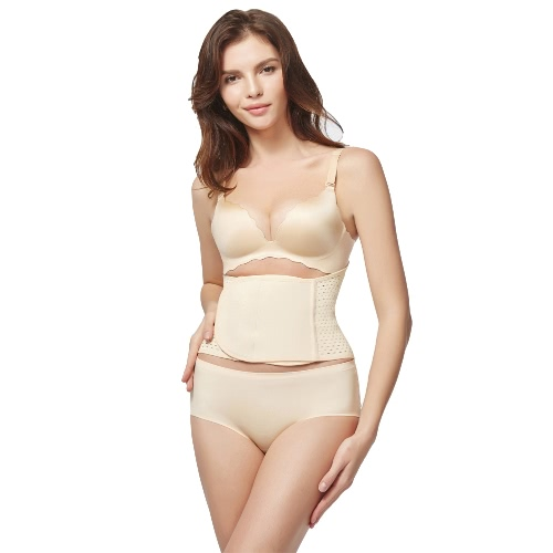 Buy Women Postpartum Body Shaper Belly Band Brace Breathable Postnatal Waist Tummy Girdle Belt Shapewear Beige