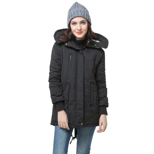 Buy Winter Fashion Women's Fleece Parka Warm Coat Hoodie Overcoat Long Jacket