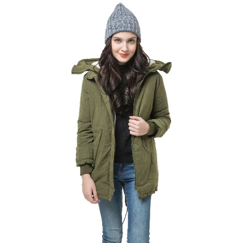 Buy Winter Fashion Women's Fleece Parka Warm Coat Hoodie Overcoat Long Jacket