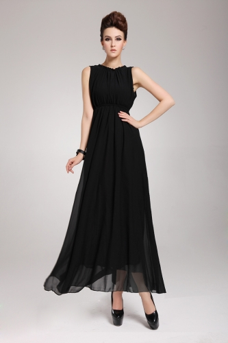 Buy 2013 New Summer Bohemian Beach Women's Dress Chiffon Split Halter Backless Long Maxi Party Evening Black