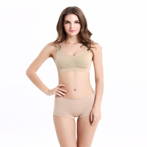 Fashion Women Sports Bra Padded Seamless Cropped Top Gym Bra Yoga Vest
