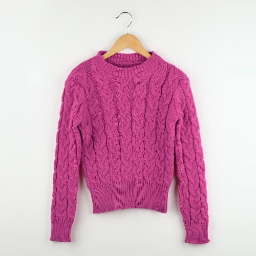 Fashion Women Short Knitted Sweater Candy Color Round Neck Long Sleeve Pullover