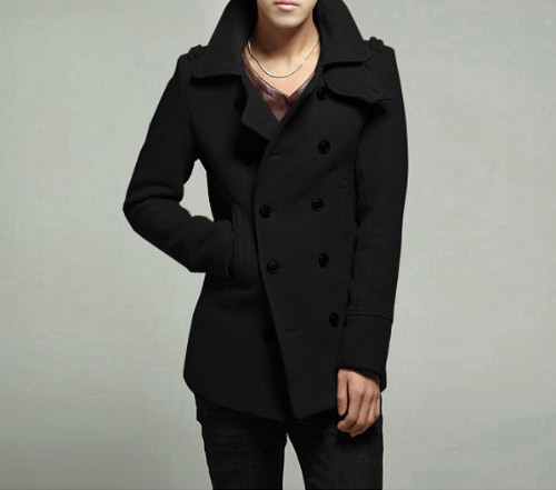Men's Stylish Double Breasted Trench Coat Jacket Outwear от Tomtop.com INT