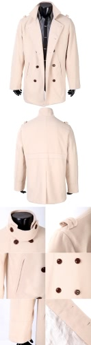 Abody Men's Stylish Double Breasted Trench Coat Jacket Outwear от Tomtop.com INT