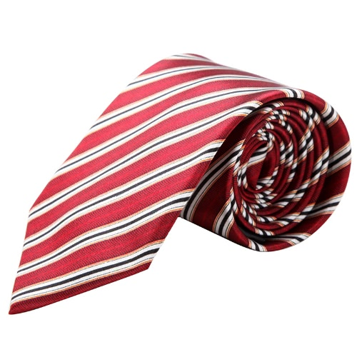 Buy Fashion Woven Men's Tie Necktie Polyester Stripe Jacquard Wedding Groom Party
