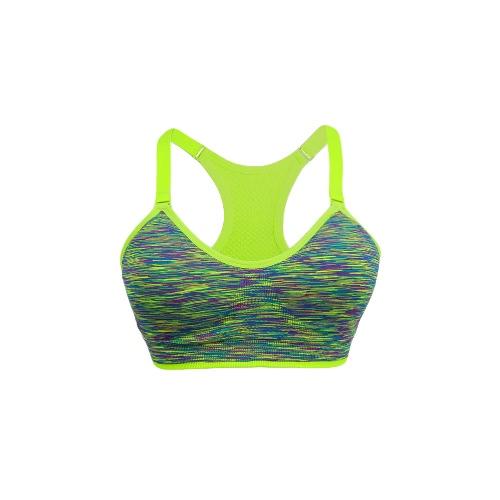 Fashion Women Sports Bra Wireless Adjustable Straps Detachable Pads Top Stretchy Gym Fitness Bra