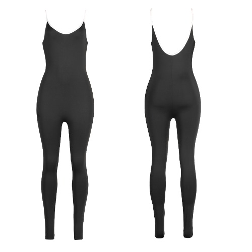Buy Sexy Women Bodycon Jumpsuit Spaghetti Strap Striped Scoop Neck One Piece Playsuit Rompers Catsuit