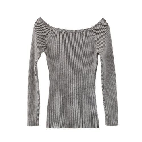 Buy Autumn Winter Basic Women Sweater Slash Neck Solid Knitted Slim Pullover Thin Long Sleeves Top