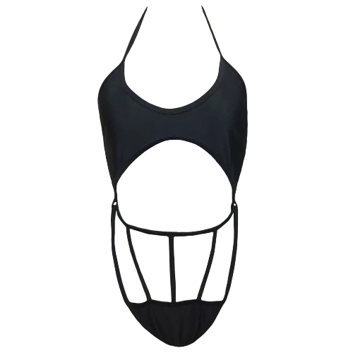 Buy Women One Piece Swimsuit Swimwear Halter Cut Strap Bathing Suit Beachwear Backless Monokini