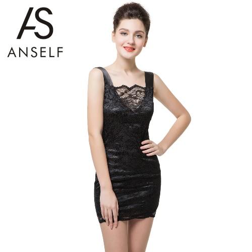Buy Anself Sexy Backless Spaghetti Strap Bodycon Club Black Lace Dress Women