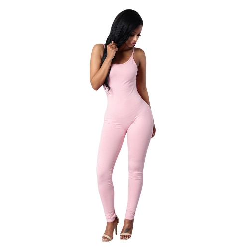 New Sexy Women Jumpsuit Rompers Spaghetti Strap Backless Bodycon Nightclub Party Playsuit Bodysuit Overalls