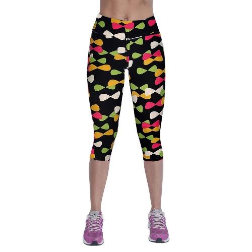Buy Fashion Women Capri Leggings High Waist Printed Cropped Yoga Pants Fitness Workout Casual Trousers