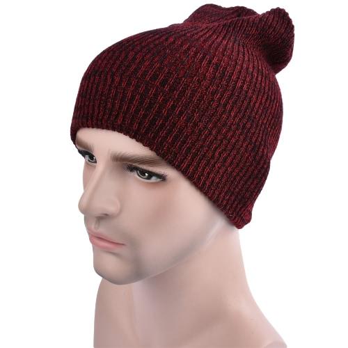 Buy Men Women Unisex Knitted Baggy Beanie Winter Plain Warm Ski Slouchy Skull Crochet Knit Cap Hat