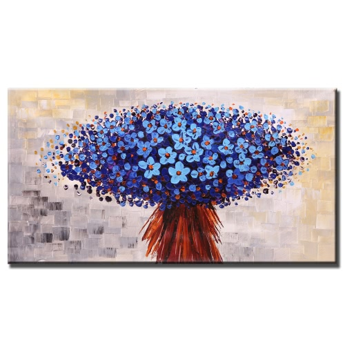 Buy 60*120cm Unframed Hand Painted Modern Abstract Oil Painting Beautiful Flowers Canvas Paint Wall Decor Art Living Room Decoration