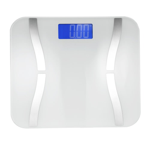 Buy Accurate Fat Scale Multifunctional Body Weight Scales Mini Large LCD Display Bluetooth Smart Electronic iOS Android System Phone