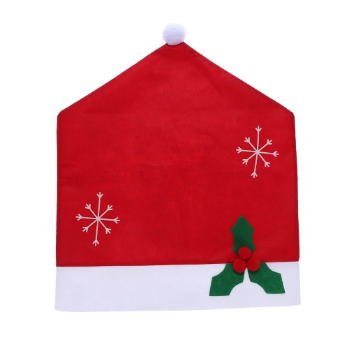55*48cm Non-woven Fabrics Christmas Hat Chair Back Cover Christmas Decoration Dining Room