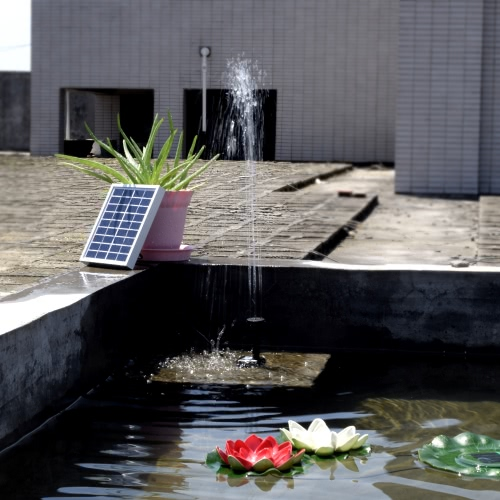 Buy Small Type Landscape Pool Garden Fountains 9V 2W Solar Power Decorative Fountain Water Pump