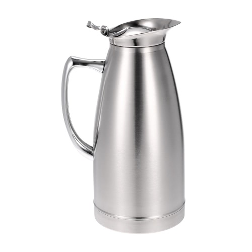Buy 1.5L Large Capacity Stainless Steel Double Walled Vacuum Insulated Coffee Jug Pot Thermal Silvery Water Pitcher Thermo