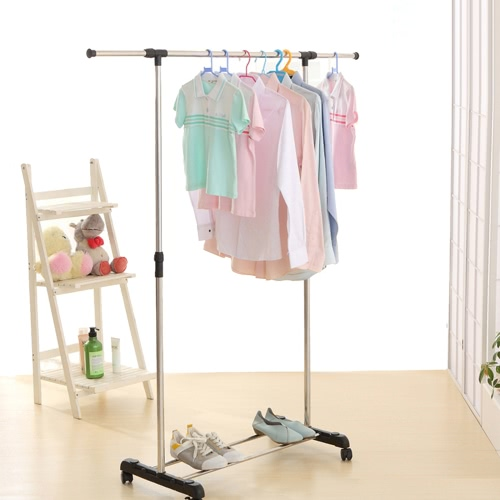 Buy iKayaa Metal Height Adjustable Coat Clothes Garment Hanging Rack Width Extendable Heavy-duty Display Organizer Shoes