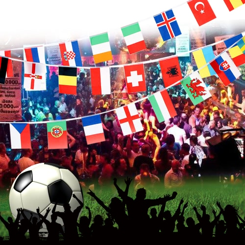 Anself 2016 European Cup 24 Countries World String Flag Hanging Flag Banner for Euro 2016