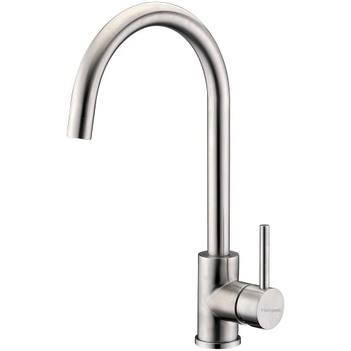Buy Homgeek Graceful Modern Style Single Handle Brushed Stainless Steel Bubbler Faucet Mixer Tap Kitchen Sink