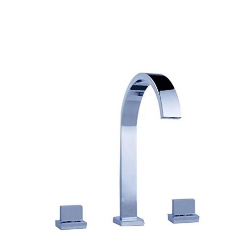 Buy Homgeek Modern Dual Handles Waterfall Spout Bathroom Vanity Sink Brass Faucet Chrome Lavatory Basin Mixer Taps Home Hotel