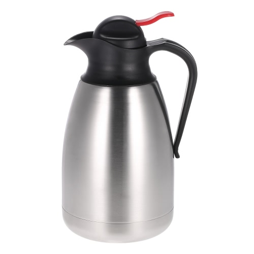 Buy 1.5L Large Capacity Stainless Steel Double Wall Vacuum Insulated Coffee Pot Unbreakable Water Pitcher Thermal Carafe