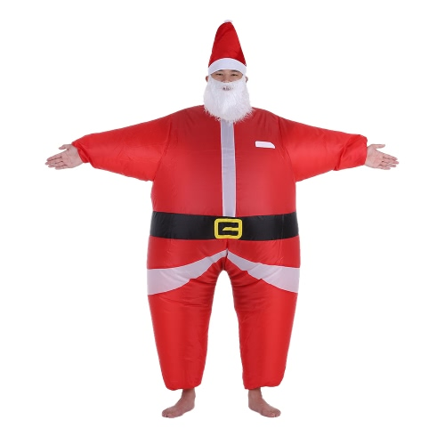 Buy Funny Christmas Inflatable Santa Claus Costume Jumpsuit Air Fan Operated Blow Xmas Suit Party Fancy Dress Outfit