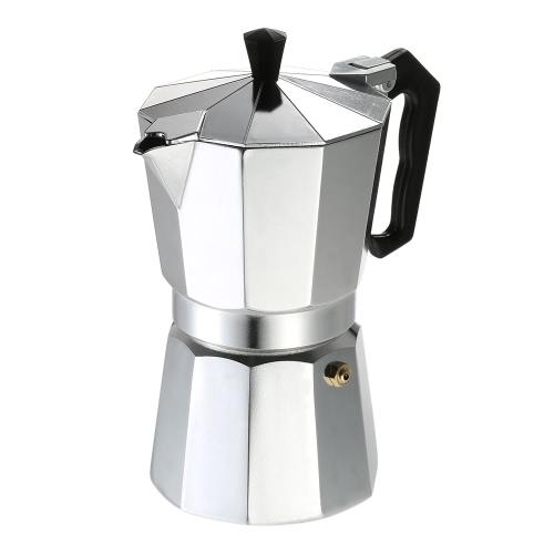 9-Cup Aluminum Espresso Percolator Coffee Stovetop Maker Mocha Pot for Use on Gas or Electric Stove