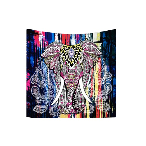 Buy 130*150cm Indian Elephant Mandala Bohemian Square Tapestry Wall Hanging Women Fashion Beach Throw Towel Blanket Picnic Carpet Yoga Mat Bedspread Tablecloth Home Decor Art