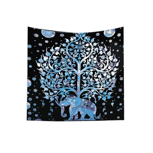 Buy 130*150cm Polyester Home Mandala Wall Decor Art Forest Tree Nature Animals Printing Bohemian Hanging Tapestry Beach Throw Towel Blanket Picnic Carpet Yoga Mat Bedspread Tablecloth