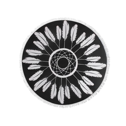 Buy 150cm Diameter Round Indian Mandala Beach Towel Wall Hanging Tapestry Mat Picnic Blanket Shawl Fringe Tassels Holiday Travel