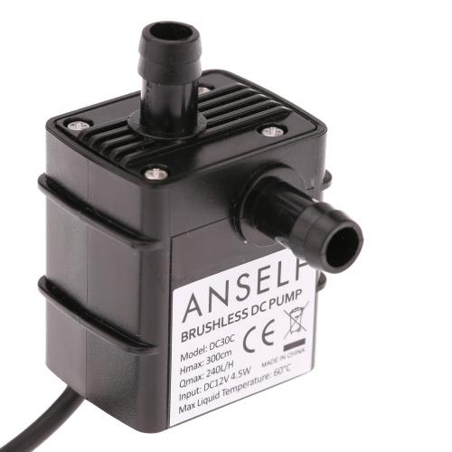 Buy Anself Ultra-quiet Mini DC12V 4.5W Micro Brushless Water Oil Pump Waterproof Submersible Fountain Aquarium Circulating 240L/H Lift 300cm