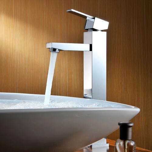 Buy Homgeek Modern Deck Mount Single Lever Bathroom Basin Sink Brass Faucet Mixer Tap Chrome Finish Home Hotel