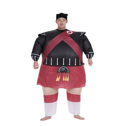 Buy Fashion Samurai Style Adult Inflatable Costume Suit Fan Operated Blow Party Xmas Fancy Cosplay Outfit Jumpsuit