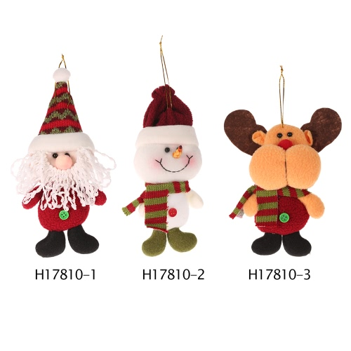 Festnight Mini Cute Snowman Doll Hanging Ornament Christmas Tree Decoration Shop Window Decor Gift