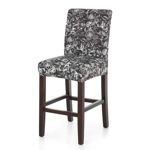 Buy Washable Dining Chair Cover Elastic Spandex Nice Printing Home Ceremony Wedding Banquet Decorations Removable Seat Covers Events Supplies Party Decoration