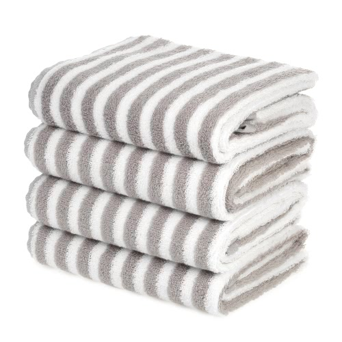Buy 4pcs/set Multi-Purpose Cotton Soft Fast Absorbant Washing Towel Cleaning Wiping Cloth Washcloths Hand Hair Towels--Stripe