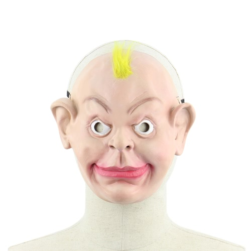 Buy Realistic Latex Human Mask Scary Funny Male Man Masks Elastic Strap Halloween Costume Cosplay Fancy Dress