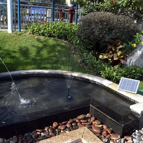 Buy High-power Solar Landscape Fountain 17V 10W Equipment Water Pump Garden Fountains Decorative
