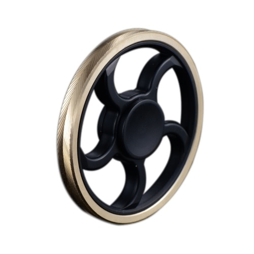 Buy Steering Wheel Shaped New Style Mini Round Hand Finger Spinner Fidget EDC Widget Focus Toy Killing Time Relieve Stress Anxiety ADHD Boredom High Speed